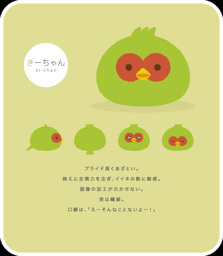 きーちゃん(ki-chan) | プライド高くあざとい。映えに全精力を注ぎ、イイネの数に敏感。画像の加工が欠かせない。実は繊細。口癖は、「えーそんなことないよー!」